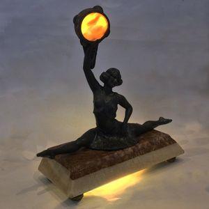 """Art Deco Lamp, """"Tambourine Dan"""