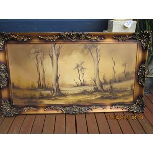 Very Large Oil Painting of Aus