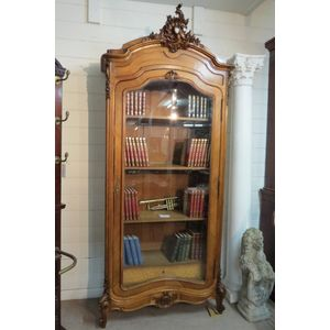 French Walnut Display Bookcase
