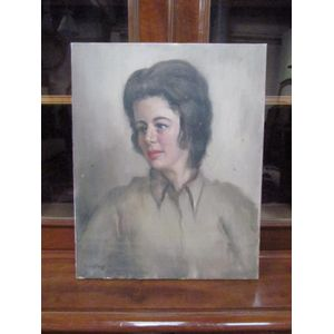 Dudley Drew portrait of lady o