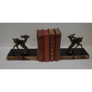 Pair of Marble and Spelter Art