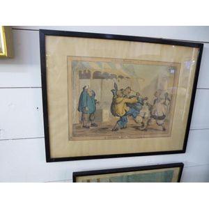 A framed print entitled