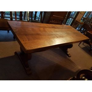 French oak solid dining table