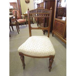 English Edwardian oak chair wi