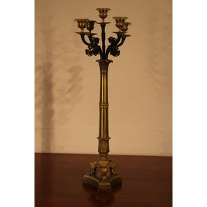 A French Empire solid bronze a