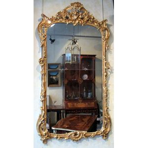 An 18th Century Louis XV Period, Giltwood Mirror. Circa 1745.