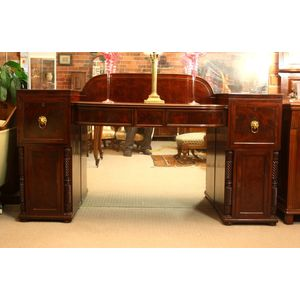 Narrow Regency mahogany sidebo