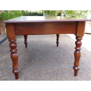 Antique Colonial Cedar Dining Table 1870.
