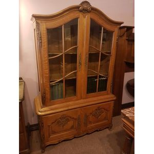 French oak vitrine/bookcase .
