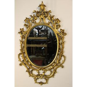 Antique rococo carved and gilt