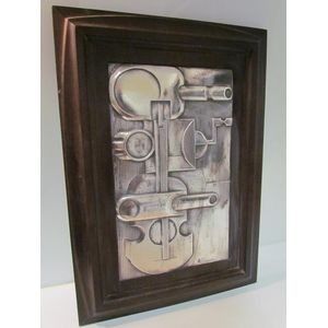Very unusual retro silver (.925) wall plaque made by Brunel of Italy. This company started designing silver and gold objects...