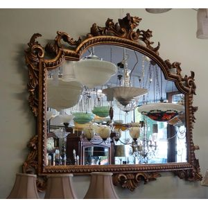 French Lxv Mirror in Good Clea