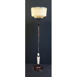 Art Deco Chrome and Bakelite Standard Lamp .............In Restored Condition ........Two Shades To Choose From