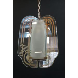 Original Art Deco English Light in Rewired Condition 