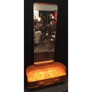 "Art Deco Dressing Table, German Bauhaus design, with magnificent full length, ""floating"" mirror, suspended for part of the top..."