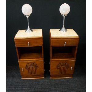 Pair of French Art Deco Cabine