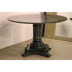 Antique green marble top and c
