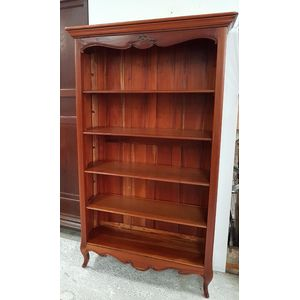 This French style mahogany adjustable four shelf open bookcase will you great in a study, lounge or even a child's bedroom. In...