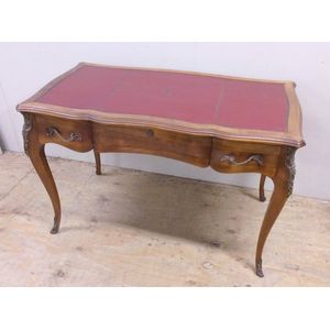 A fine walnut Louis XV three d