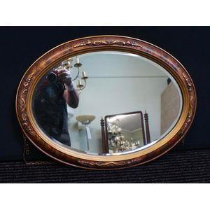 Oval Art Deco Mirror in Good C