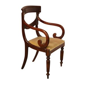 Drapery back chairs are rare,