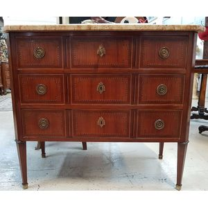 19th Century French Marquetry Inlaid Commode