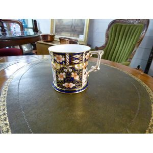 in excellent condition a crown derby small mug/tankard with marks for 1915