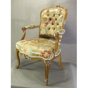 While 18th century French armchairs are always elegant and well made, this armchair is well above that high average and the...