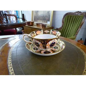 crown derby breakfast cup and
