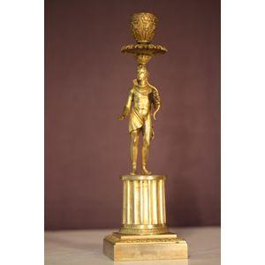 Gilt bronze candlestick Roman