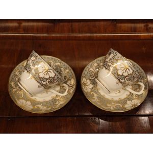 Circa 1840, this pair of cups