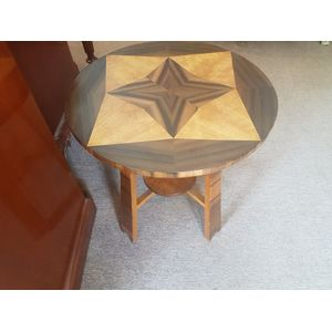 Art deco walnut circular occasional table ,in great condition .