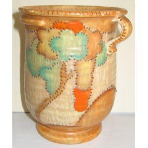 Crown Devon wall vase with ora