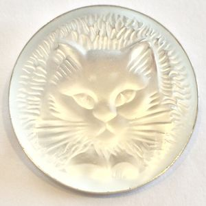 Mid Century Lalique Brooch, Wh