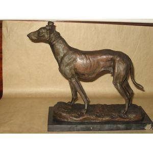 Bronze figure of greyhound on