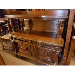 French walnut two door lockable with key .Two drawer two shelves lovely panels to doors . In great condition  . Perfect tv hifi...