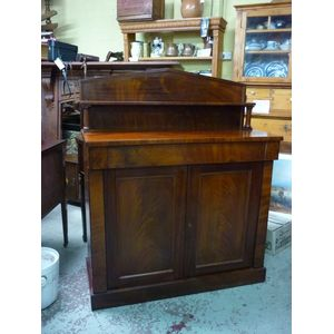 A small and neat proportion English mahogany sideboard chiffonier - elegant and simplicity design of William IV era, made...