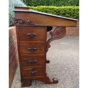 Magnificent Antique Rosewood Davenport C1840's