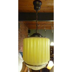 Art deco hall shade and original fitting, good condition, 2 available