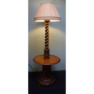 French Carved Oak Standard Lamp .........In Rewired Condition .........$1395  We Have Several Shades In Stock ......The One In...