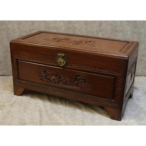 Mid 20th Centry Teak and Camphor Wood Trunk ........In Good Clean Detailed Condition