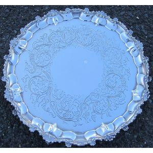 Sterling Silver Footed Salver,