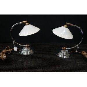 Pair of Chrome Art Deco Lamps