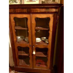 Antique Bookcase Display Cabin