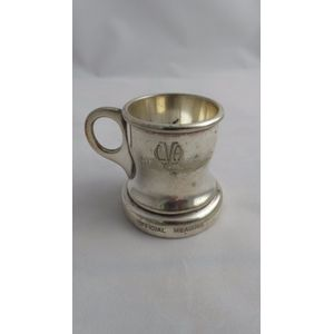 Fabulous silver plate rum meas