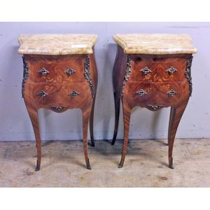 A fine pair of French marble t