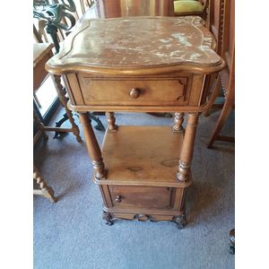 French walnut rouge marble top