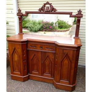 Antique Colonial Cedar Sideboard C1860 with mirrored back.