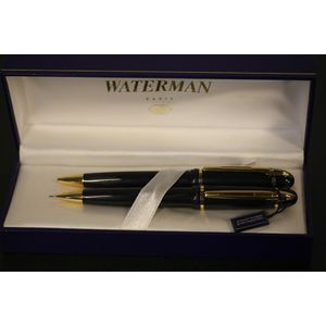 Waterman Paris : Ballpoint pen and mechanical pencil set.