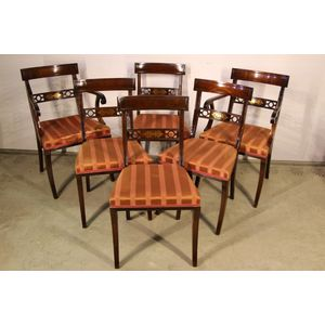 Rare set of six Regency style